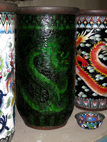 cloisonné jars (before polishing)