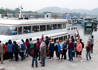 Boarding Our Li River Cruise Ship