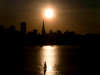 Sun Setting Over S.F. Skyline (from Yerba Buena Is.)